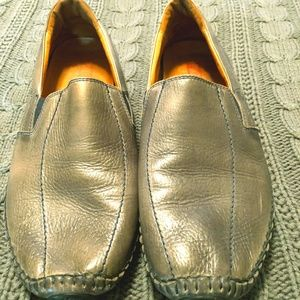 pikalinos silver/brown loafers size 8.5